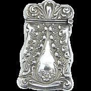 American Sterling Silver Vesta Case - Circa 1900