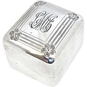 Beautiful Sterling Silver Ring Box - Ellis Bros, Late 19th Century
