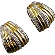 Timeless 18K Gold and Diamond Earrings - 20th Century