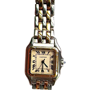 CARTIER Mid Size Panthere 1100 - 18K Gold and Steel