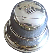 Classic Birks Bell Sterling Silver Ring Box - Mid 20th Century