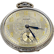 Art Deco Bulova Pocket Watch