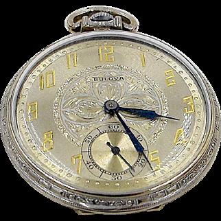 Art Deco Bulova Pocket Watch