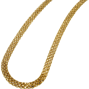 Beautiful 22K Bismark Woven Necklace