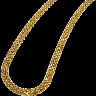 Beautiful 22K Bismark Woven Necklace