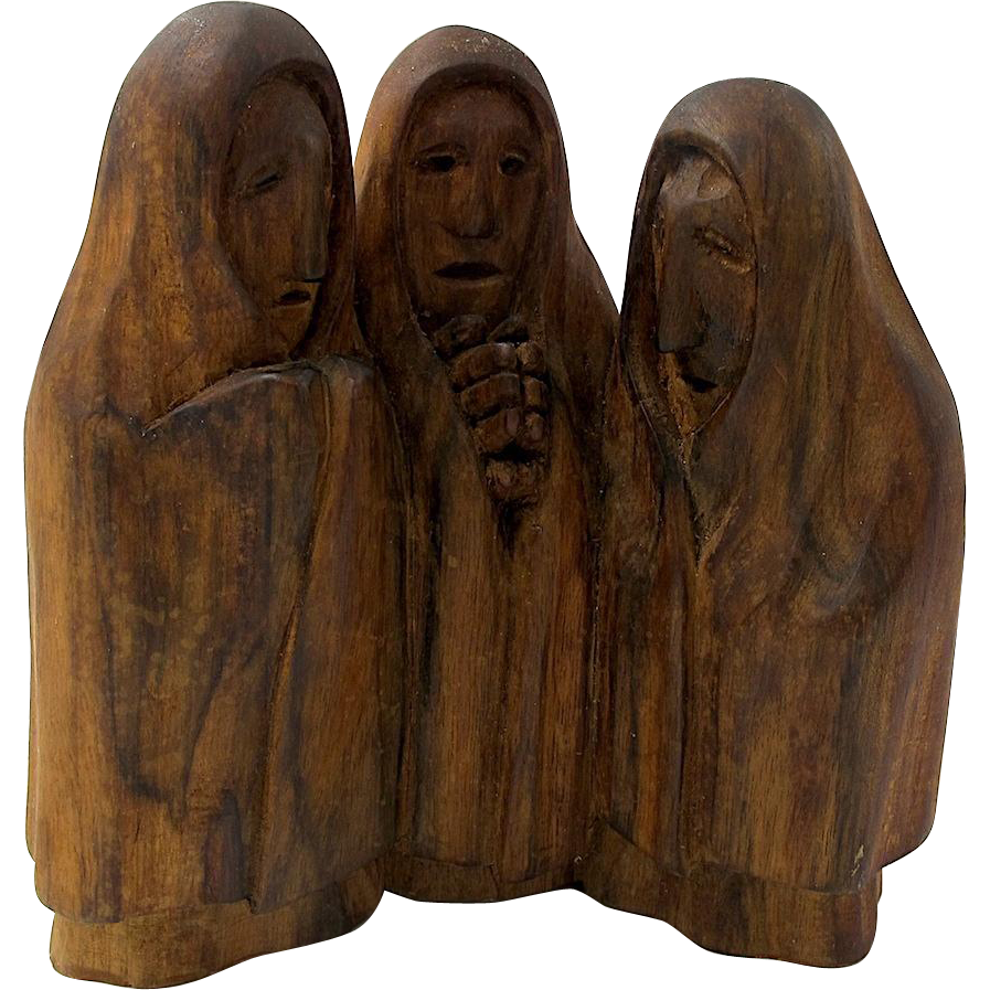 Edward Kolacz Hand Carved Wooden Sculpture