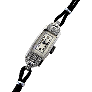 Fine Art Deco Platinum, Diamond Wristwatch - Circa 1920's