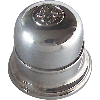 BIRKS Regency Silver Plate Bell Ring Box - Lion Rampant, Mid 20th