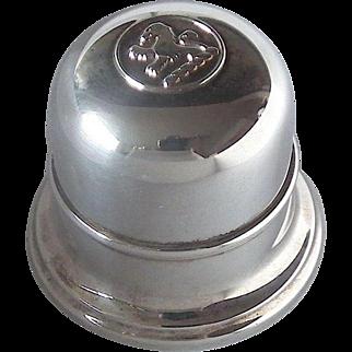 BIRKS Regency Silver Plate Bell Ring Box - Lion Rampant, Mid 20th