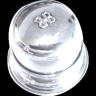 BIRKS Regency Double Bell Silver Ring Box - Mid Century