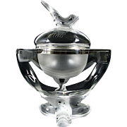 Lalique Igor Crystal Caviar Bowl Serving Dish