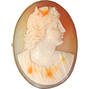 Early 19th Century Diana Shell Cameo