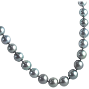 Tahitian Pearls with Diamond Set 14 Karat White Gold Clasp