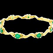 2.80 Carat Emerald 18K Gold Bracelet