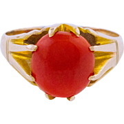 Mediterranean Red Coral Ring