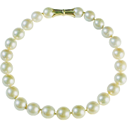 South Seas Pearl Necklace, 18K Yellow Gold Clasp
