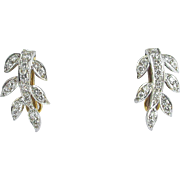 Art Deco 18K Diamond Earrings