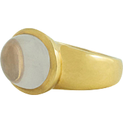 Rock Crystal Yellow Gold Ring