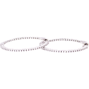 GIA Certified Diamond Hoop Earrings in White Gold