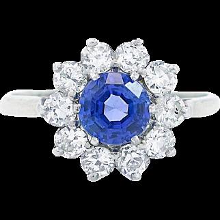 Tanzanite and Diamond Ring Set in Platinum