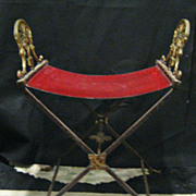 Bronze Art Deco - Egyptian Director's Chair  c 1920's