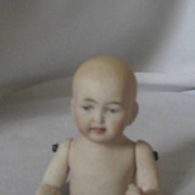 Adorable Vintage Baby Pin cushion - half Doll – Bisque - Jointed