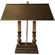 Vintage Two Candle Desk lamp Brass & Copper Bouillotte Style