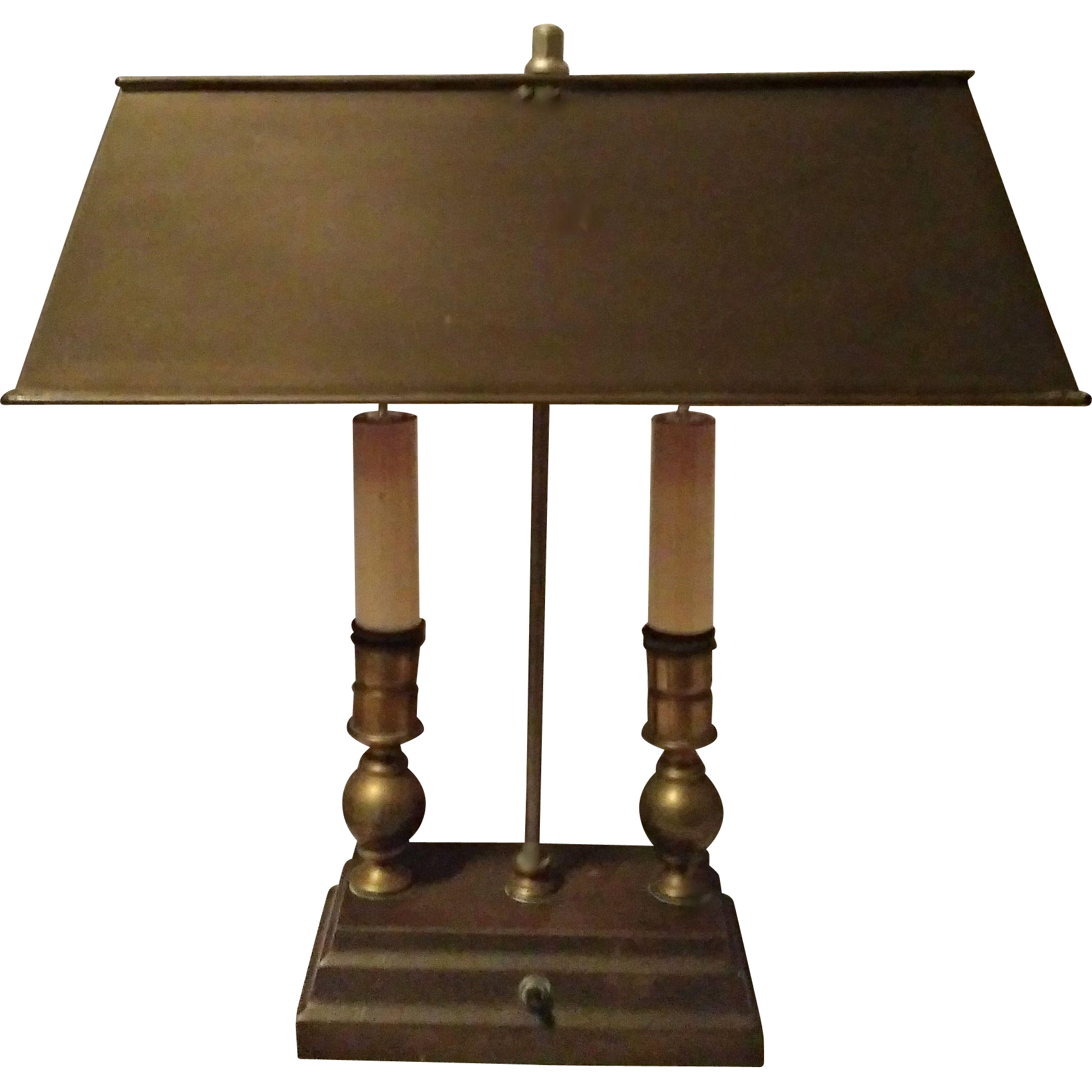 Vintage style desk lamp - Vintage Two Candle Desk Lamp Brass Copper Bouillotte Style