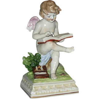 Fabulous Scheibe Alsbach porcelain Cherub Angel with Book - Germany