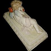 Fabulous Scheibe Alsbach porcelain Cherub Angel Sleeping – Germany
