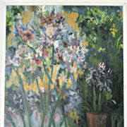 "Large Impressionist style  Painting Striking Colors Floral 24"" x 30"""