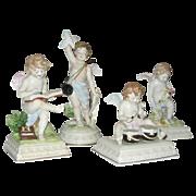 Four Fabulous Scheibe Alsbach porcelain Cherub figurines -  Germany