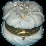 "Beautiful Antique Wavecrest Dresser Jewelry Jar or box  3"" x 3 """