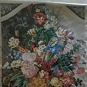 "Beautiful Large Vintage flora Tapestry - Fabulous Colors -  51-1/2"" x 75"""