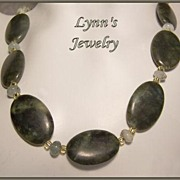 Tsavorite Green Garnet Green Aquamarine 14Kt Gold Fill Necklace