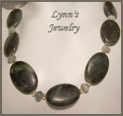 Tsavorite Green Garnet Green Aquamarine 14Kt Gold Fill Necklace