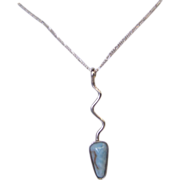 Larimar Arrow Pendant Sterling Silver Necklace