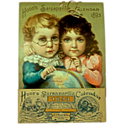 1893  Hood's Sarsaparilla Calendar, 'The Young Discoverer's' - Artwork by Maud Humphrey