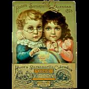1893  Hood's Sarsaparilla Calendar, 'The Young Discoverer's' - Artwork by Maud Humphrey