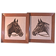 WALLACE Race Horse Prints - 'Pensive' & 'Shut Out'