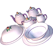 ENGLISH BREAKFAST SET - Fruit Topped with Lavender Trim  12-Piece Set