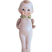 NIPPON KEWPIE GOOGLY DOLL - Bisque - Hinged Arms