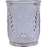 """STIPPLED DAISY' SPOONER - Pressed Glass - 1880"