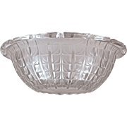 "R. LALIQUE ""ACACIAS""  No. 3 Opalescent French Bowl (Marcilhac No. 3250) 1925-1945)"