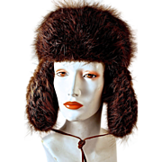 ALASKAN BEAVER Skiing/Hunter's Hat with Ear Flaps