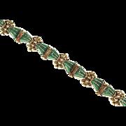 MARICELA (Ysido Garcia) Bracelet - Sterling & Green Onyx