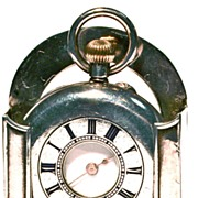 Antique Swiss Lady's 17-Jewel Half-Hunter Pocket Watch in Stand-Up Sterling Case- Circa 1905