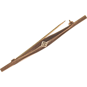 DIAMOND Bar Pin - 8 Karat Gold