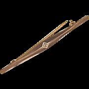 DIAMOND Bar Pin - 8 Karat Gold
