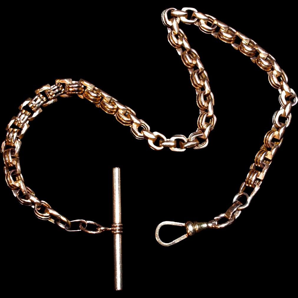 14 Karat Pink Gold Watch Chain
